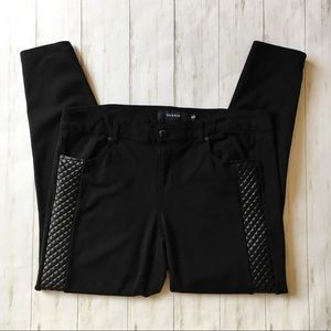 Torrid Quilted Panel Ponte Black Jegging Pants